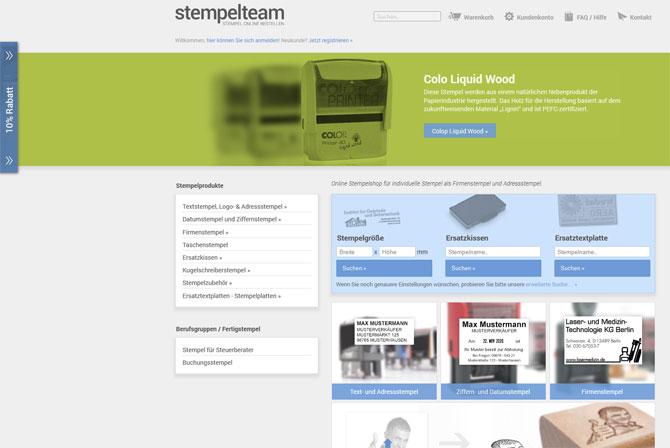 Startseite www.stempelteam.de